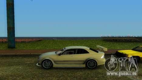 Lexus IS200 pour une vue GTA Vice City de l'intérieur