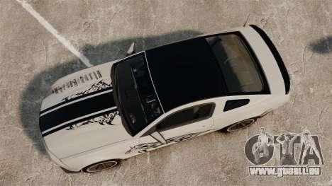 Ford Mustang 2012 Boss 302 Fiery Horse für GTA 4 rechte Ansicht