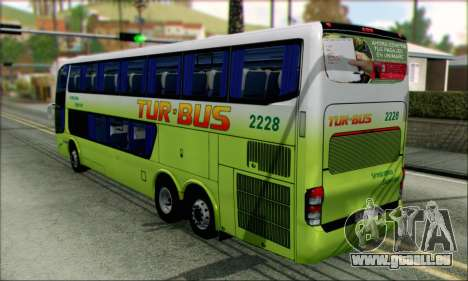 Marcopolo Paradiso G6 Tur-Bus pour GTA San Andreas laissé vue