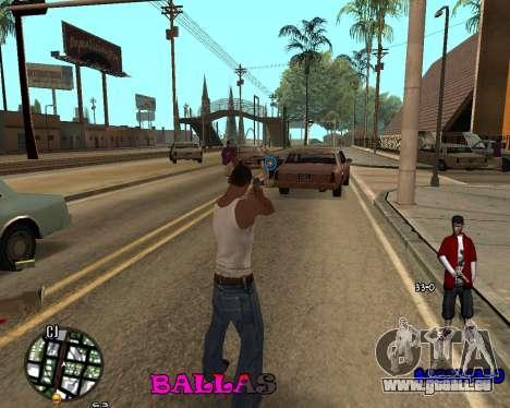 HUD The Ballas By Santiago pour GTA San Andreas deuxième écran