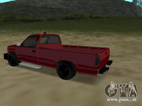 Chevrolet Silverado ATTF pour GTA San Andreas vue arrière