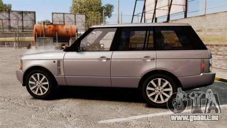 Range Rover Supercharged für GTA 4 linke Ansicht