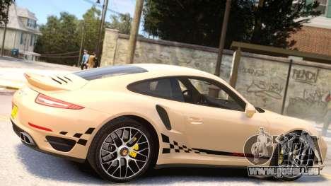 Porsche 911 Turbo 2014 [EPM] pour GTA 4 est une vue de l'intérieur
