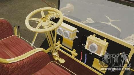 Voitures anciennes 1910 pour GTA 4 est une vue de l'intérieur