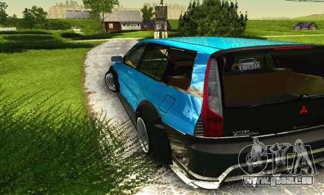 Mitsubishi Evo IX Wagon S-Tuning pour GTA San Andreas vue de dessous