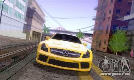 Mercedes-Benz SL65 AMG GB pour GTA San Andreas sur la vue arrière gauche