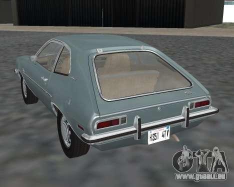 Ford Pinto 1973 für GTA San Andreas linke Ansicht