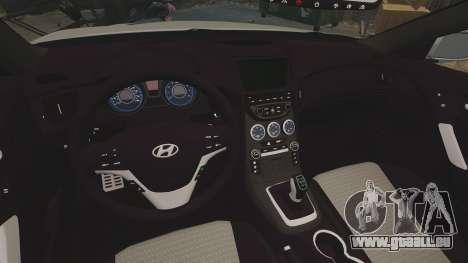 Hyundai Genesis Coupe 2013 pour GTA 4 est une vue de l'intérieur