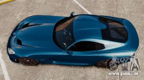 Dodge Viper SRT GTS 2013 für GTA 4 rechte Ansicht