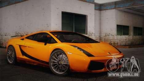 Lamborghini Gallardo Superleggera pour GTA San Andreas vue de droite