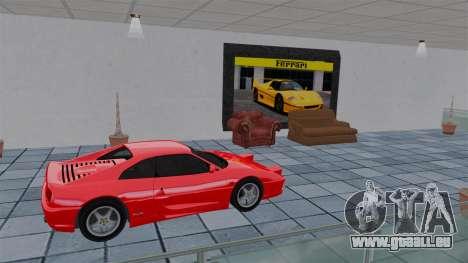 Salon de l'Auto Ferrari pour GTA 4 sixième écran