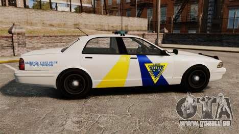 GTA V Police Vapid Cruiser Alderney state für GTA 4 linke Ansicht