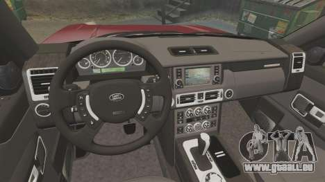 Range Rover Supercharged pour GTA 4 est une vue de l'intérieur
