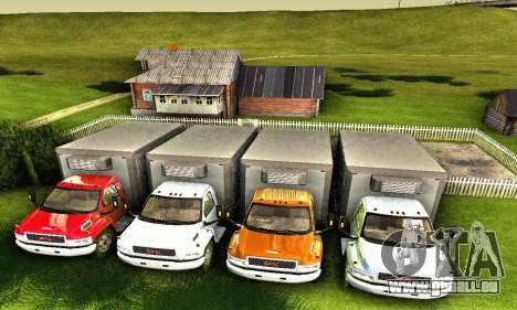 GMC Top Kick C4500 Dryvan House Movers 2008 pour GTA San Andreas vue de dessous
