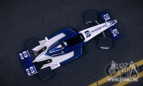 BMW Williams F1 pour GTA San Andreas sur la vue arrière gauche