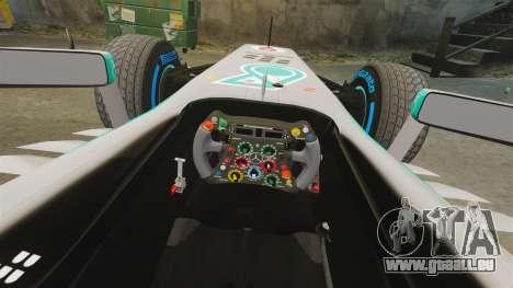 Mercedes AMG F1 W04 v5 pour GTA 4 est une vue de l'intérieur