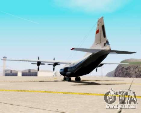 L'Antonov-12 de Aeroflot pour GTA San Andreas laissé vue