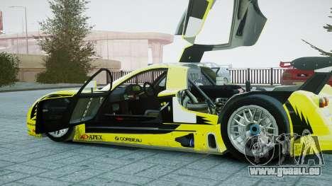 Nissan R390 GT1 pour GTA 4 est une vue de l'intérieur
