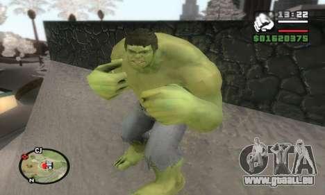 Hulk pour GTA San Andreas troisième écran