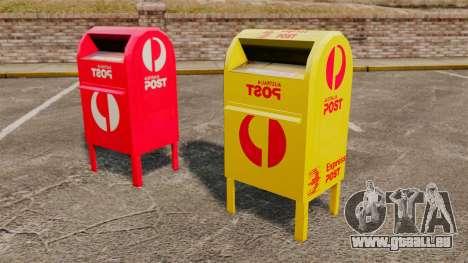 Boîtes aux lettres de l'Australie pour GTA 4