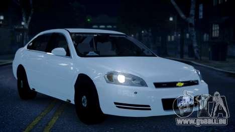 Chevy Impala Unmarked 2010 für GTA 4