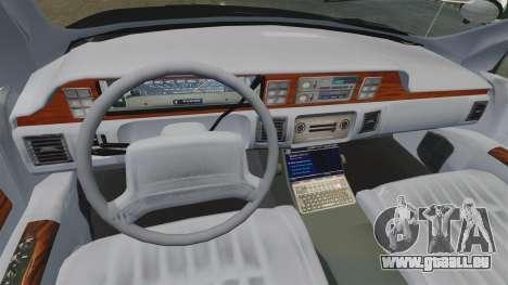 Chevrolet Caprice Police 1991 v2.0 LCPD für GTA 4 Seitenansicht