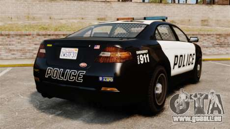 GTA V Vapid Police Interceptor pour GTA 4 Vue arrière de la gauche