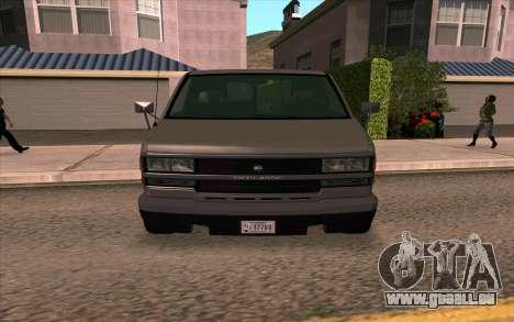 Burrito GTA 4 pour GTA San Andreas sur la vue arrière gauche