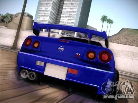 Nissan Skyline GTR pour GTA San Andreas laissé vue