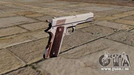 45 M1911 Colt pistol pour GTA 4 secondes d'écran