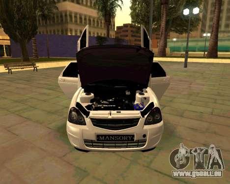 Lada 2172 Priora für GTA San Andreas Seitenansicht