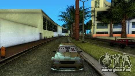 Lexus IS200 pour une vue GTA Vice City de la droite
