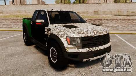 Ford F-150 SVT Raptor 2011 ArmyRat pour GTA 4