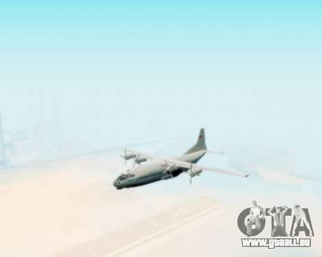 L'Antonov-12 de Aeroflot pour GTA San Andreas vue de droite