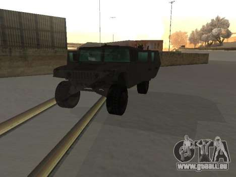 Hummer H1 de la jeu Resident Evil 5 pour GTA San Andreas vue intérieure