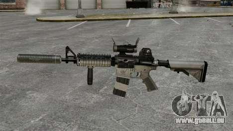 M4 carabine avec silencieux v2 pour GTA 4 troisième écran