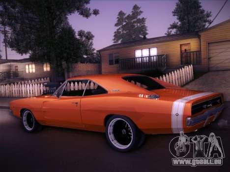 Dodge Charger RT V2 für GTA San Andreas zurück linke Ansicht