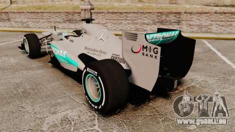 Mercedes AMG F1 W04 v5 pour GTA 4 Vue arrière de la gauche