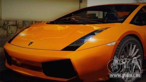 Lamborghini Gallardo Superleggera pour GTA San Andreas moteur