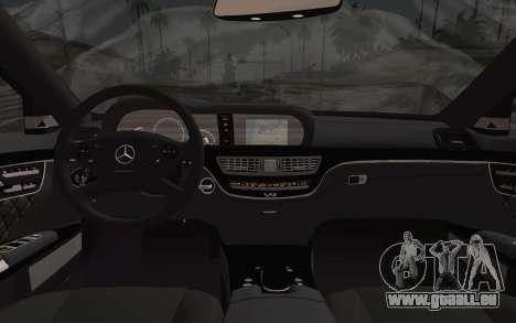 Mercedes-Benz S65 AMG für GTA San Andreas zurück linke Ansicht