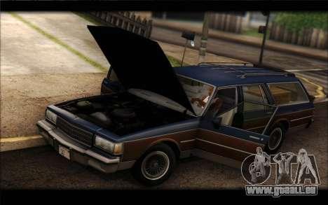 Chevrolet Caprice 1989 Station Wagon für GTA San Andreas zurück linke Ansicht