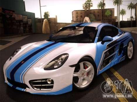 Porsche Cayman S 2014 pour GTA San Andreas vue de côté