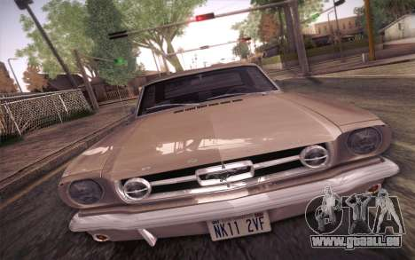 Ford Mustang GT 289 Hardtop Coupe 1965 für GTA San Andreas Innenansicht