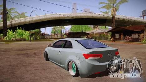 Kia Cerato pour GTA San Andreas sur la vue arrière gauche