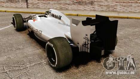 McLaren MP4-29 für GTA 4 hinten links Ansicht