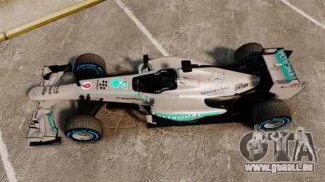 Mercedes AMG F1 W04 v2 für GTA 4 rechte Ansicht