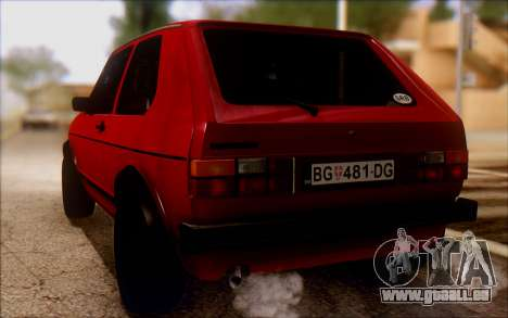 Volkswagen Golf Mk1 TAS pour GTA San Andreas laissé vue