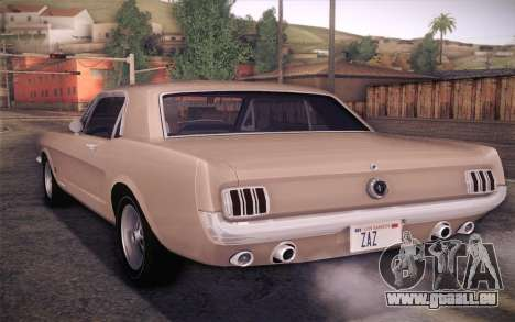 Ford Mustang GT 289 Hardtop Coupe 1965 für GTA San Andreas linke Ansicht