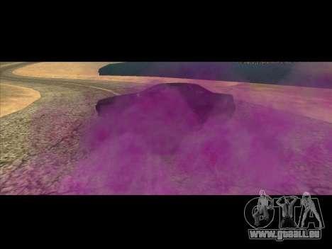 Die neue Farbe der Rauch unter die Räder für GTA San Andreas zweiten Screenshot