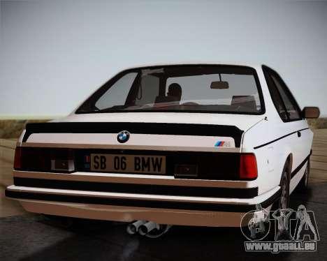 BMW E24 M635 1984 pour GTA San Andreas vue arrière